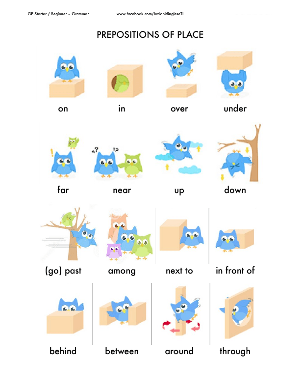 Printable Worksheets prepositions worksheets for grade 2 : WORKSHEETS: Prepositions of place – Show And Text